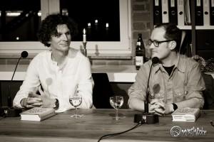 Jan Brandt im Gespräch mit Holger Heimann. Foto: Anders Balari