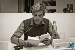 """Mathias Gatza liest aus """"Der Augentäuscher"""". Foto: Laila Mahfouz"""