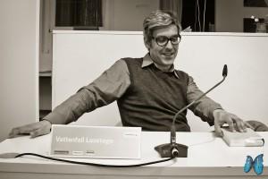 Mathias Gatza freut sich über die Fragen seiner Zuhörer. Foto: Laila Mahfouz