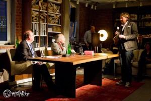 Jan Paschen bedankt sich bei seinen beiden charismatischen Gästen. Foto: Anders Balari