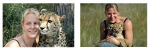 Die sympathische Verlegerin Astrid Behrendt bei der Harnas Wildlife Foundation