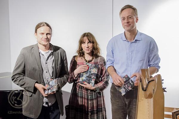 Die Sieger des gestrigen Wettbewerbes (v. l. Tobias Sommer - 3. Platz, Dagmar Seifert - 1. Platz und Alexander Rösler - 2. Platz) Foto: Anders Balari