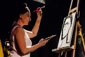 Frida Kahlo bei ihrer Berufung. Foto: Anders Balari