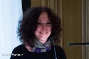 Gila Lustiger als Gast im Literaturzentrum Hamburg