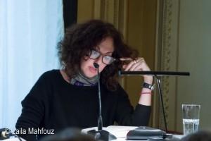 """Gila Lustiger liest aus ihrem Roman """"Die Schuld der anderen""""."""