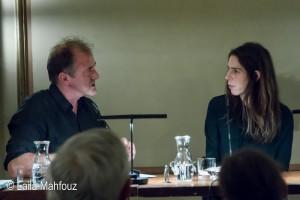 Rachel Kushner im Gespräch mit Moderator Bernhard Robben