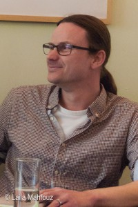 Tobias Sommer bei der Lesung am 11. April 2015 im Hotel Wedina