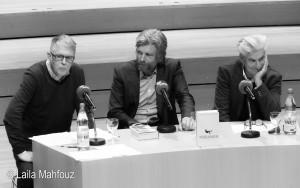 Dr. Uwe Englert, Karl Ove Knausgård und Helmut Mooshammer (von links) Foto: Laila Mahfouz