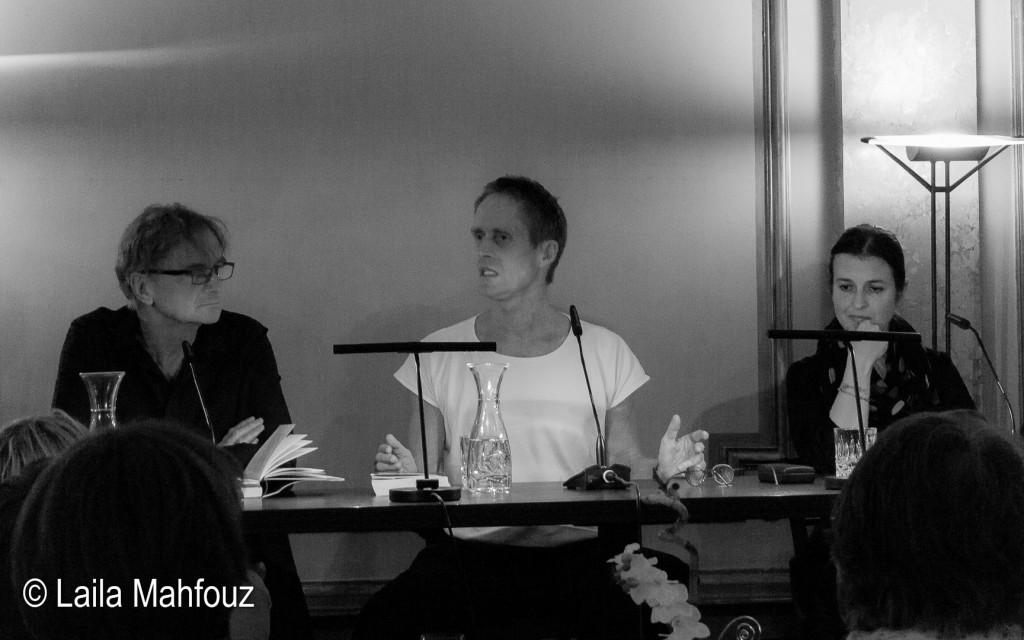 Peter Urban-Halle, Peter Høeg und Marta Dittrich (von links) Foto: Laila Mahfouz