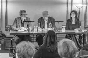 v. l. Jörg Magenau, Martin Walser und Thekla Chabbi (Foto: Anders Balari)